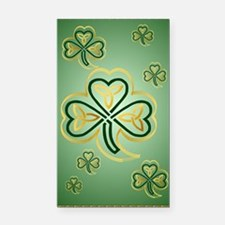 LargePoster Gold and Green Sh Rectangle Car Magnet
