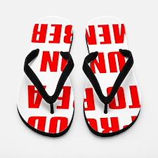 PROUD TO BE A UNION MEMBER Flip Flops