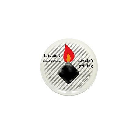 Charcoal Mini Button