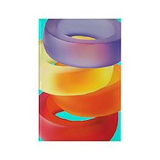 GEL_BRACELETS_545_IPHONE_BLUE Rectangle Magnet