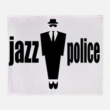 jazzpoliceflat Throw Blanket
