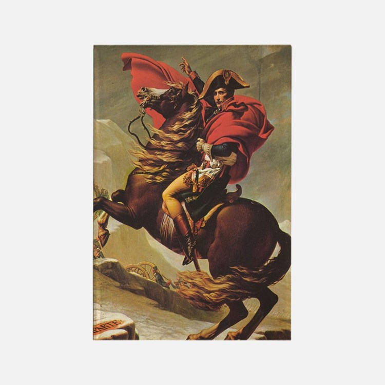 Jacques-Louis_David_Napoleon_ipho Rectangle Magnet