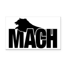 MachStickerSheltie Rectangle Car Magnet