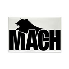 MachStickerSheltie Rectangle Magnet