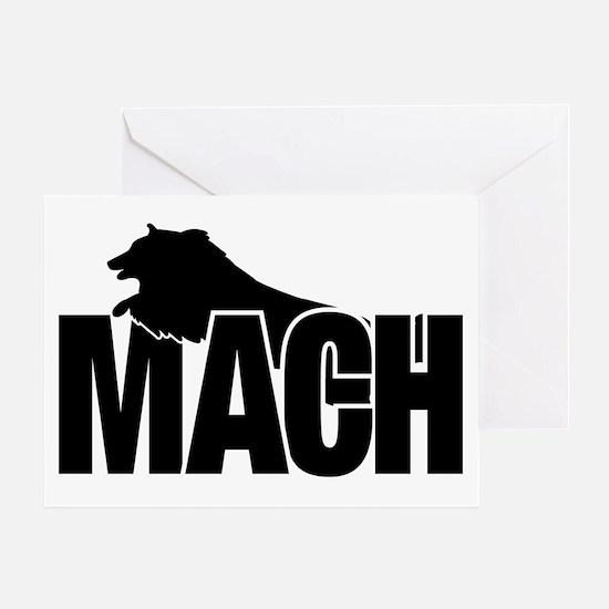 MachStickerSheltie Greeting Card