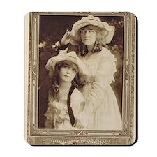 Lillian and Dorothy Gish 1917 Mousepad