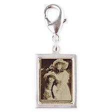 Lillian and Dorothy Gish 191 Silver Portrait Charm
