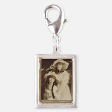 Lillian and Dorothy Gish 191 Silver Portrait Charm