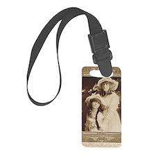 Lillian and Dorothy Gish 1917 Luggage Tag