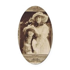 Lillian and Dorothy Gish 1917 Oval Car Magnet