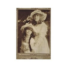 Lillian and Dorothy Gish 1917 Rectangle Magnet