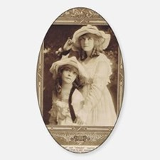 Lillian and Dorothy Gish 1917 Sticker (Oval)