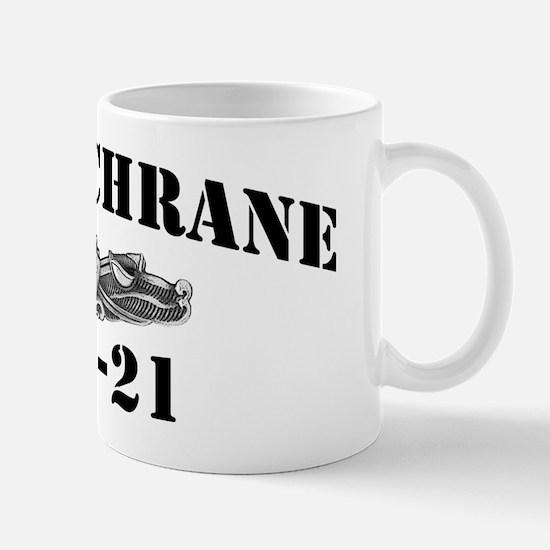 cochrane black letters Mug