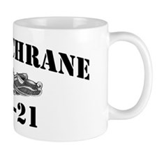 cochrane black letters Small Small Mug