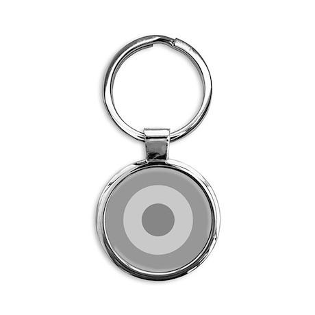 Greece - Ghost Grey Round Keychain