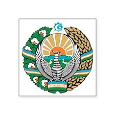 """COA_Uzbekistan Square Sticker 3"""" x 3"""""""