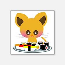 "lovesushi Square Sticker 3"" x 3"""