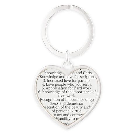 10 Heart Keychain