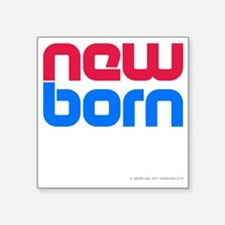"New Born Porn Square Sticker 3"" x 3"""
