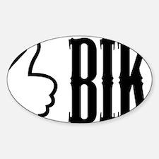 bike-button(trans) Sticker (Oval)
