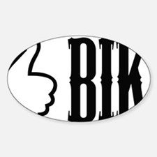 bike-button(white) Sticker (Oval)