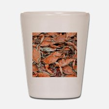 snow crabs wider Shot Glass