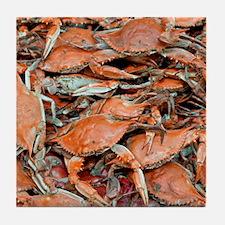 snow crabs wider Tile Coaster