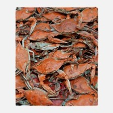 snow crabs wider Throw Blanket