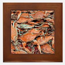 snow crabs wider Framed Tile