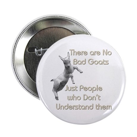 No Bad Goats Button