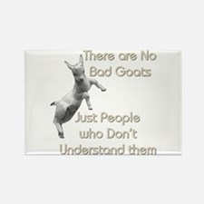 No Bad Goats Rectangle Magnet