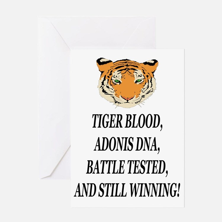 tiger blood adonis dna battle testee Greeting Card