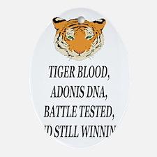 tiger blood adonis dna battle testee Oval Ornament