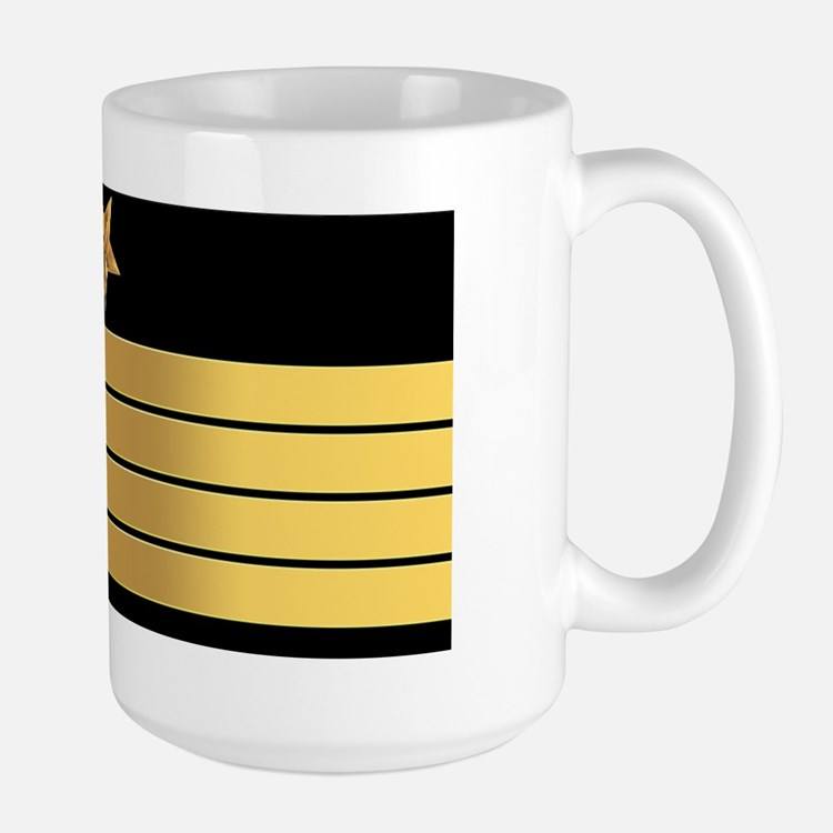 USN CPT LP Large Mug