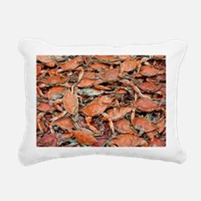 blue crabs glovesf Rectangular Canvas Pillow
