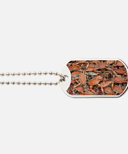 blue crabs glovesf Dog Tags