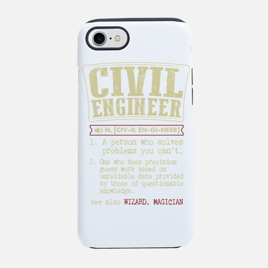 Civil Engineer Dictionary Term iPhone 7 Tough Case