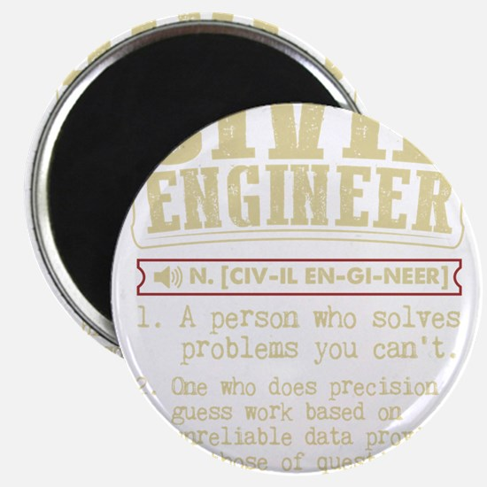 Civil Engineer Dictionary Term T-Shirt Magnets