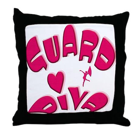 Guard Diva Throw Pillow