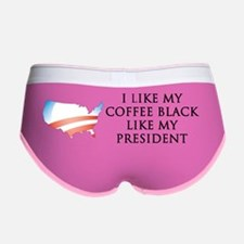 Coffee Black Sticker Women's Boy Brief