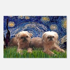LIC-Starry Night - Two Br Postcards (Package of 8)