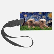LIC-Starry Night - Two Brussels  Luggage Tag