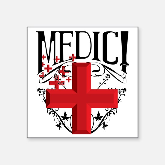 "MCEtf2MEDIC Square Sticker 3"" x 3"""