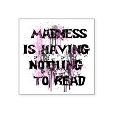 "Madness Grunge Square Sticker 3"" x 3"""