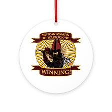vatican warlock01 Round Ornament