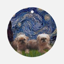 Starry Night - Two Brussells Griffo Round Ornament
