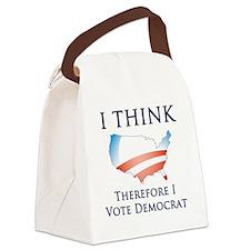 Think - Vote Democrat Canvas Lunch Bag