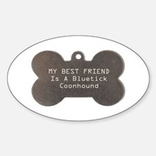 Friend Bluetick Oval Decal