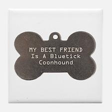 Friend Bluetick Tile Coaster