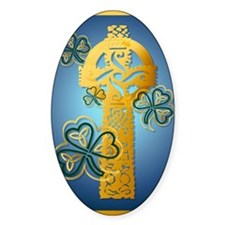 Gold Celtic Cross JewelSquareP Decal